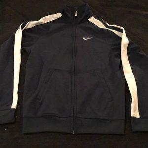 Navy & White Nike Jacket